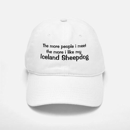 I like my Iceland Sheepdog Baseball Baseball Cap