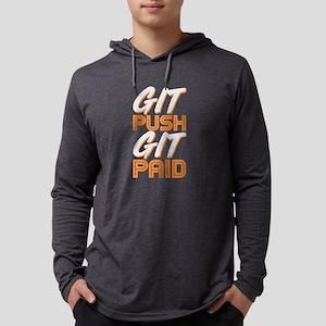 Git Push Git Paid ASCII and Gi Long Sleeve T-Shirt