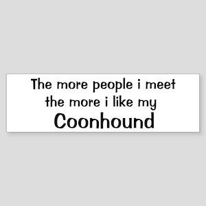 I like my Coonhound Bumper Sticker
