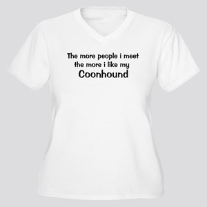 I like my Coonhound Women's Plus Size V-Neck T-Shi