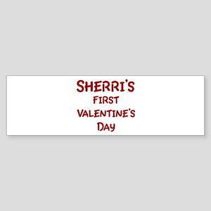 Sherris First Valentines Day Bumper Sticker
