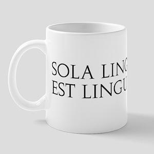 Sola Lingua Bona Mug