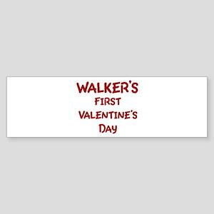 Walkers First Valentines Day Bumper Sticker