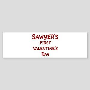 Sawyers First Valentines Day Bumper Sticker