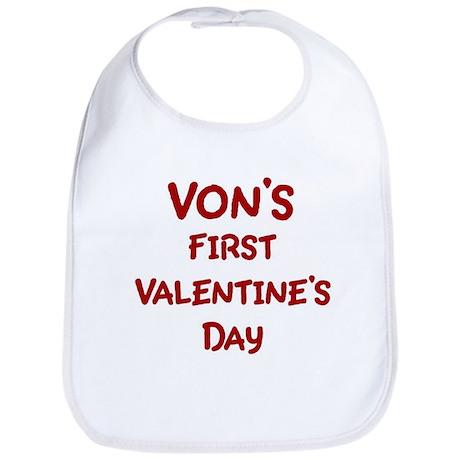 Vons First Valentines Day Bib
