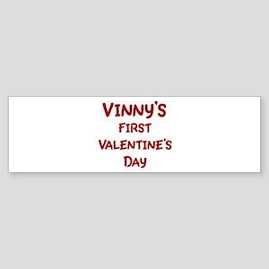Vinnys First Valentines Day Bumper Sticker