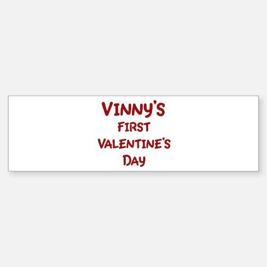Vinnys First Valentines Day Bumper Bumper Bumper Sticker