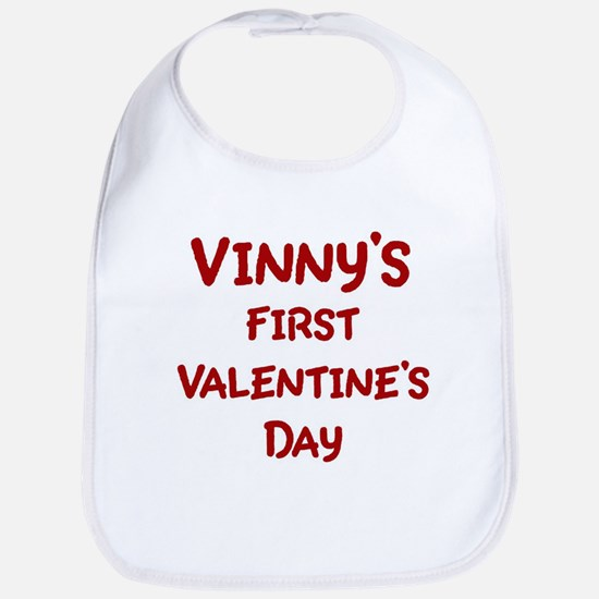 Vinnys First Valentines Day Bib