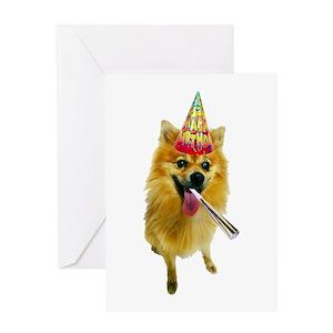 Funny Pomeranian Greeting Cards Cafepress