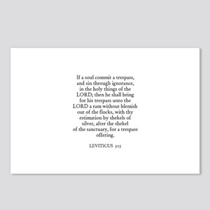LEVITICUS  5:15 Postcards (Package of 8)
