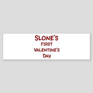 Slones First Valentines Day Bumper Sticker