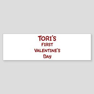 Toris First Valentines Day Bumper Sticker