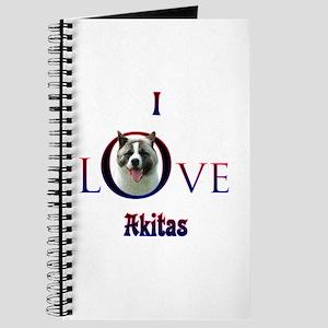 Akita I Love Journal
