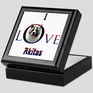 Akita I Love Keepsake Box
