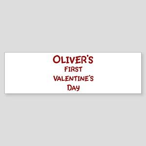 Olivers First Valentines Day Bumper Sticker