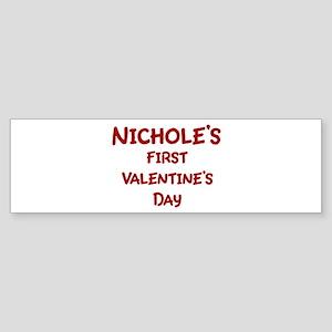 Nicholes First Valentines Day Bumper Sticker