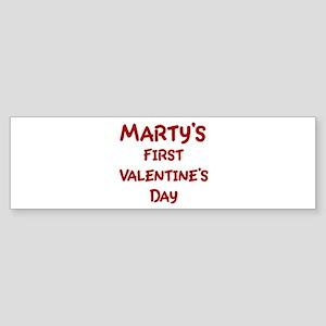Martys First Valentines Day Bumper Sticker