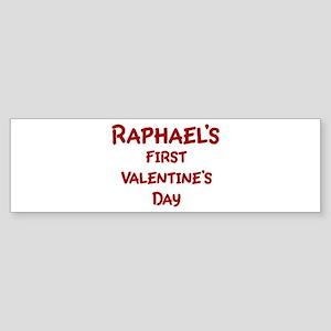Raphaels First Valentines Day Bumper Sticker