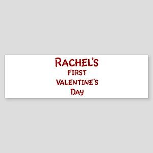 Rachels First Valentines Day Bumper Sticker