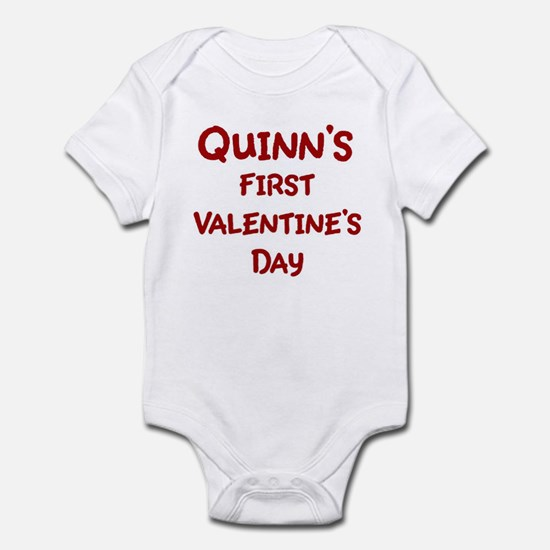 Quinns First Valentines Day Infant Bodysuit