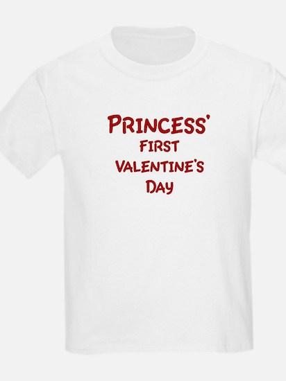 Princesss First Valentines Da T-Shirt