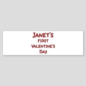 Janets First Valentines Day Bumper Sticker