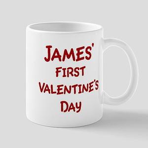 Jamess First Valentines Day Mug