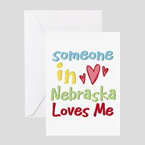 Someone in Nebraska Loves Me Greeting Card