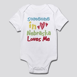 Someone in Nebraska Loves Me Infant Bodysuit