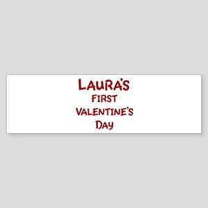 Lauras First Valentines Day Bumper Sticker