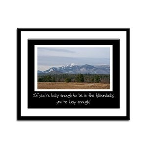 Lucky To Be In The Adirondacks Framed Panel Print