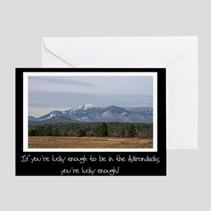 Lucky To Be In The Adirondacks Greeting Card