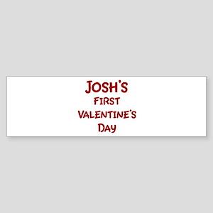 Joshs First Valentines Day Bumper Sticker
