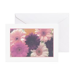 Pretty in Pink Daisy Greeting Cards (Pk of 10)