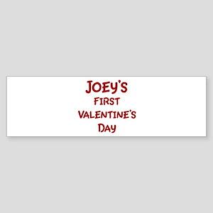 Joeys First Valentines Day Bumper Sticker