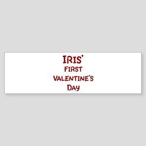 Iriss First Valentines Day Bumper Sticker