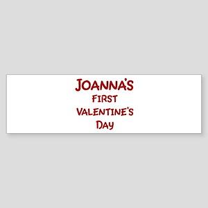 Joannas First Valentines Day Bumper Sticker
