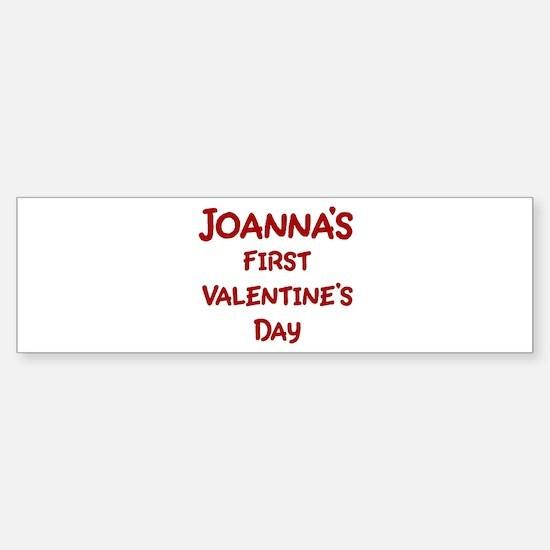 Joannas First Valentines Day Bumper Bumper Bumper Sticker
