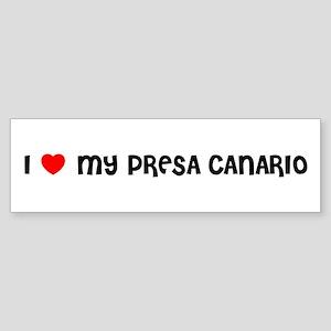 I LOVE MY PRESA CANARIO Bumper Sticker