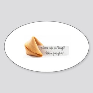 Fortune Cookie Oval Sticker