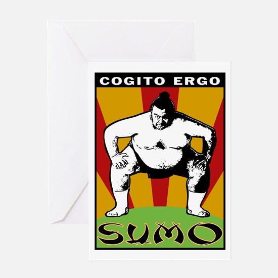 Cogito Ergo Sumo Greeting Card