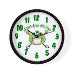 Green Eyed Monster Wall Clock