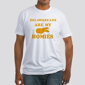 Delawareans are my homies Fitted T-Shirt