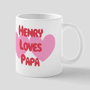 Henry Loves Papa Mug
