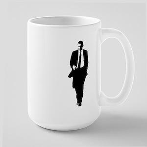 Big Obama Silhouette Large Mug