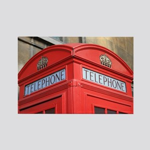 Rectangle Magnet (10 Pack) - Telephone Box