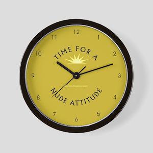 Nude Attitude gold - Wall Clock