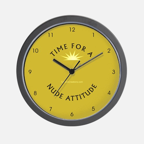 Nude Attitude gold - Wall Clock