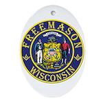 Wisconsin Masons Oval Ornament