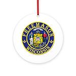 Wisconsin Masons Ornament (Round)